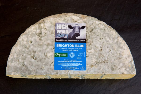 High Weald Dairy Organic Brighton Blue half wheel 1.5kg