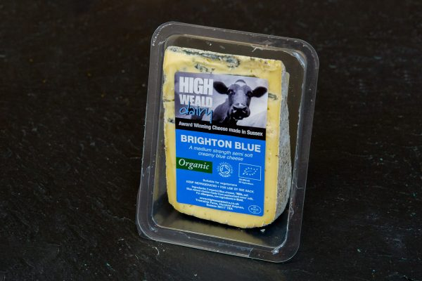 High Weald Dairy Organic Brighton Blue 150g wedge