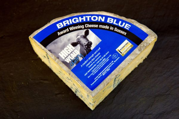 High Weald Dairy Brighton Blue quarter wheel 750g