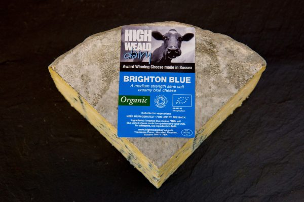 High Weald Dairy Organic Brighton Blue quarter wheel 750g