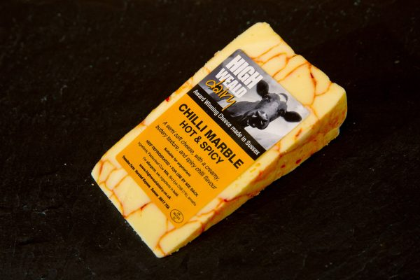 High Weald Dairy Chilli Marble 150g wedge