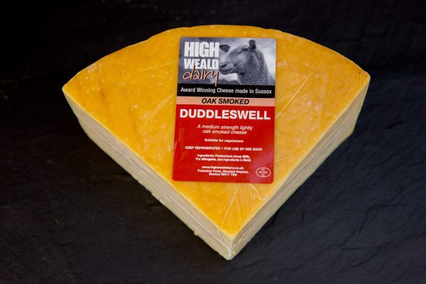 High Weald Dairy Oak Smoked Duddleswell quarter wheel 750g