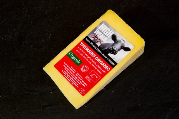 High Weald Dairy Tremains Organic cheddar-style cheese 150g wedge
