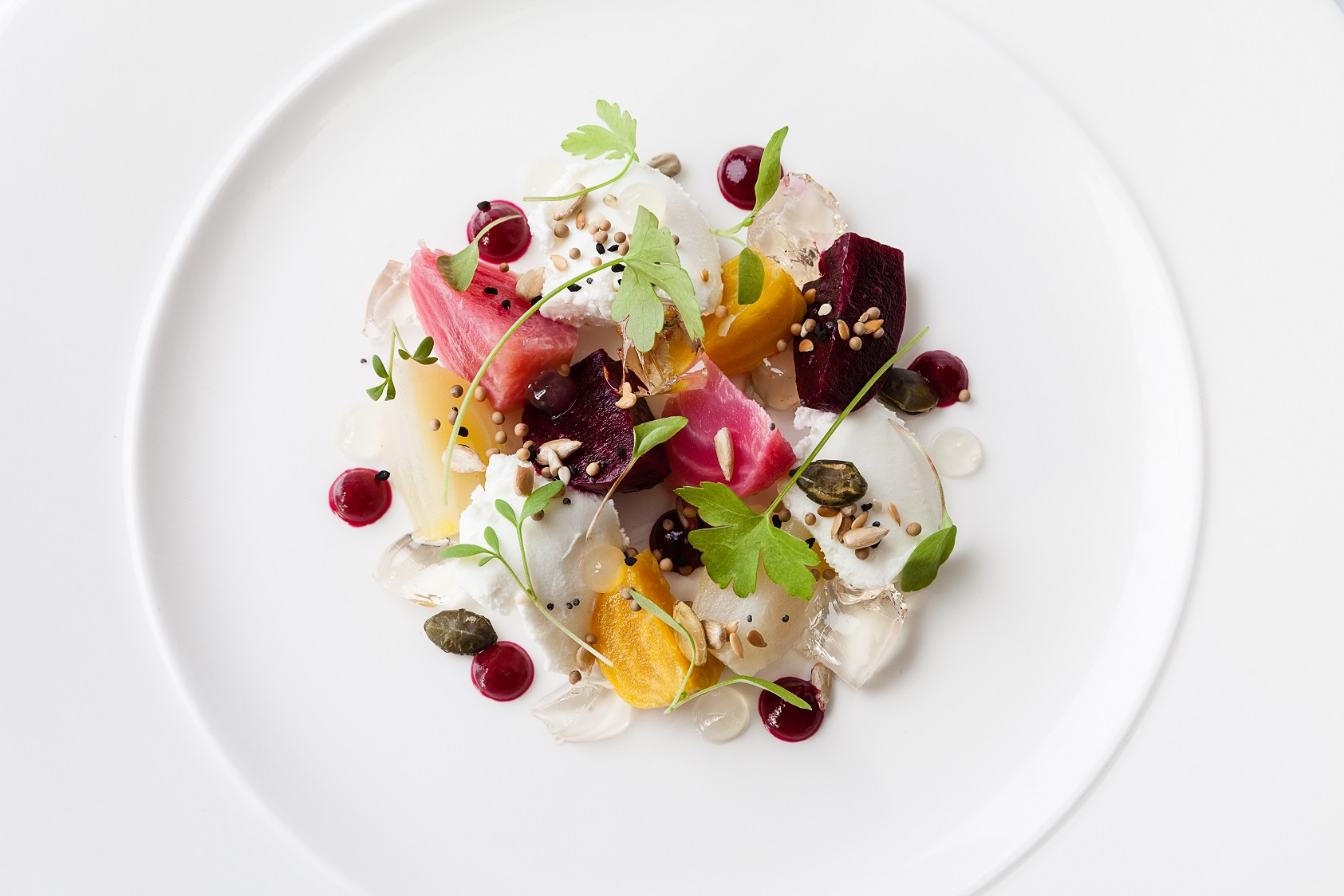 Heritage Garden Beetroot salad with cheese